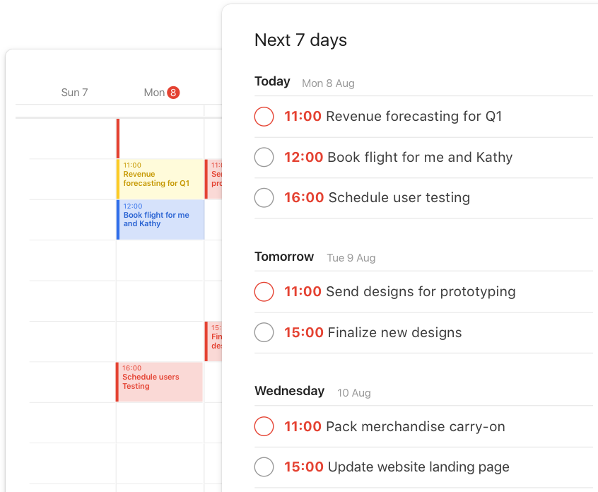 todoist premium feature calendar feeds calendar view interface
